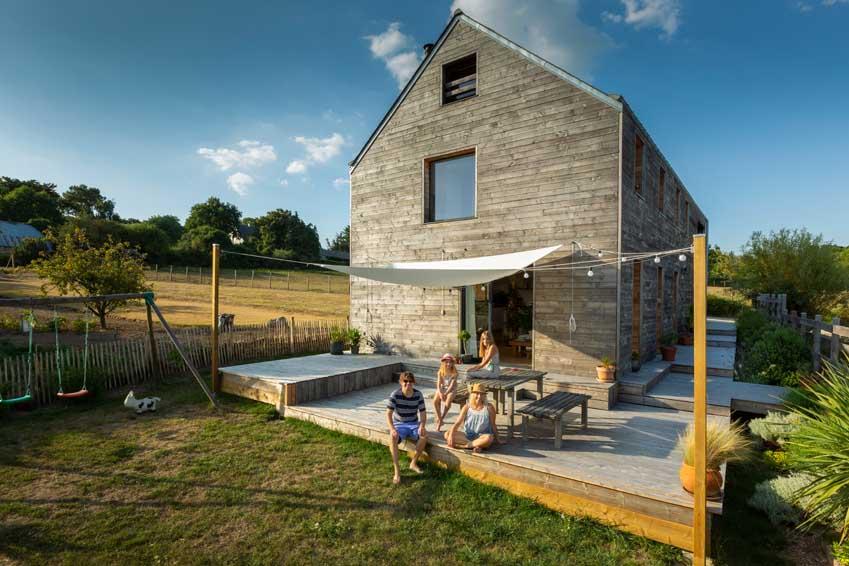 Projet de maison en auto construction, Morbihan