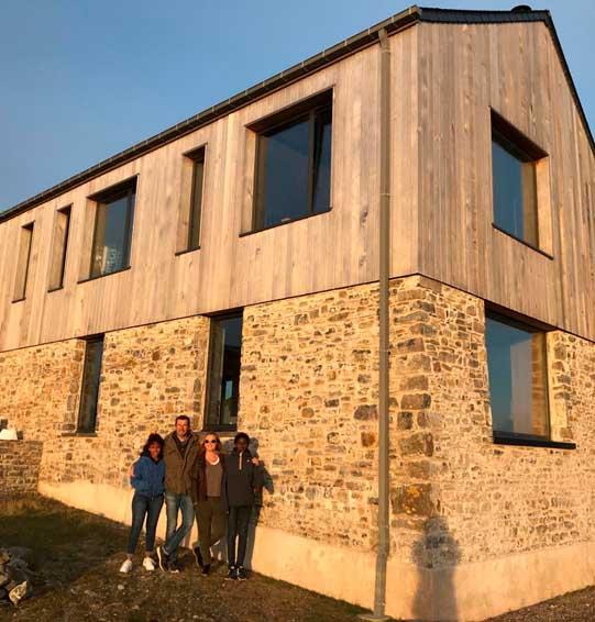 Rénovation et surélévation d'un bâtiment existant, architecture, Manche