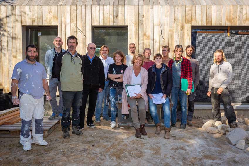 Projet de maison d'habitation par l'atelier MOS, architectes sur les terres du Golfe du Morbihan