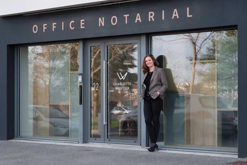 Aménagement d'un office notarial, projet d'architecture, Morbihan